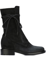 A.F.Vandevorst Mid Calf Length Side Zip Boots Black