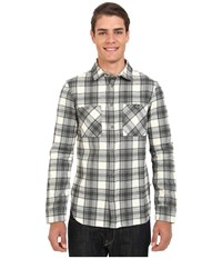 Altamont Binary Long Sleeve Flannel Dirty White Men's Clothing Multi