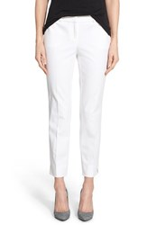 Women's Halogen Slim Stretch Cotton Blend Ankle Pants White