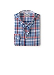 Mango Slim Fit Check Shirt Red
