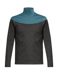 Kolor Bi Colour High Neck Sweatshirt Grey Multi