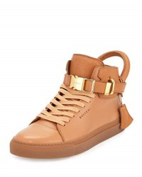 Buscemi 100Mm Bison High Top Sneaker Peanut