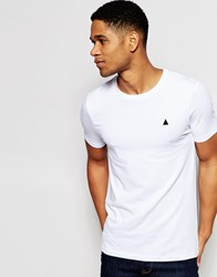 Asos Muscle T Shirt With Crew Neck And Embroidery In White White