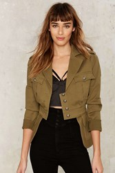 Nasty Gal Collection Commander Military Jacket Black