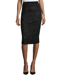 Ming Wang Lurex Houndstooth Pencil Skirt Bkx