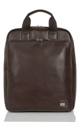 Knomo London Brompton Dale Leather Totepack Brown