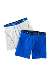 Adidas Athletic Stretch Boxer Brief Pack Of 2 Gray