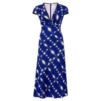 Libelula Tamara Dress Zig Zag Diamond Print Blue
