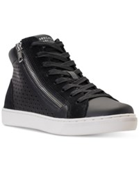 Skechers Women's Prima Leather Lacers High Top Casual Sneakers From Finish Line Black