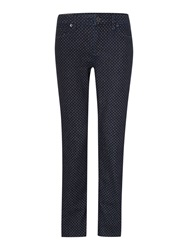 Lands' End Mid Rise Straight Leg Jeans Blue