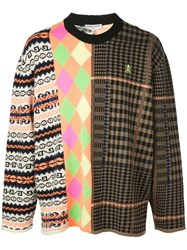 Opening Ceremony Long Sleeve Mix Argyle Jumper Multicolour