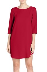 Bb Dakota Women's 'Jazlyn' Crepe Shift Dress Cherry