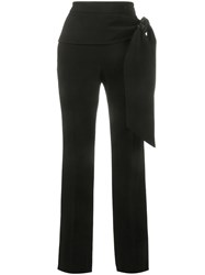 Givenchy Tie Waist Crepe Trousers Black