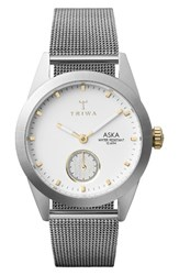 Triwa Women's Aska Mesh Strap Watch 32Mm Silver Gold Silver