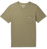 Todd Snyder Slub Cotton Jersey T Shirt Green