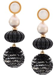 Lizzie Fortunato Jewels Sequin Bead Earrings White