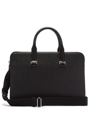 Dunhill Cadogan Grained Leather Briefcase Black