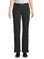 Andrew Marc New York Act Snap Off Track Pants Black