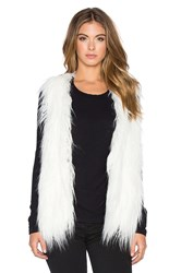 Lucy Paris Faux Fur Shag Perfect Vest White