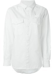 Stampd Chest Pocket Denim Shirt White