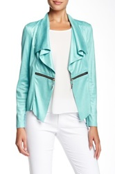Insight Faux Leather Jacket Blue