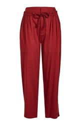 See By Chloe Rope Tie Jogger Pants Red