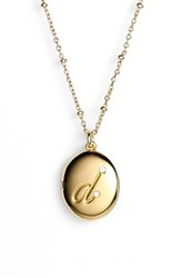 Women's Kate Spade New York Initial Locket Pendant Necklace Gold D