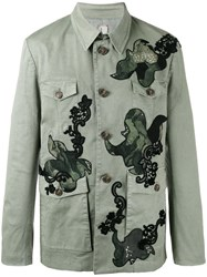 Antonio Marras Patched Buttoned Coat Green