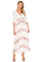 Endless Rose V Neck Floral Maxi Dress White