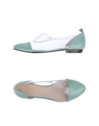 Lucille L'italien Moccasins Light Green
