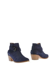Sessun Ankle Boots Dark Blue