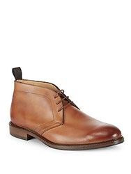 Saks Fifth Avenue Made In Italy Leather Chukka Boots Tan