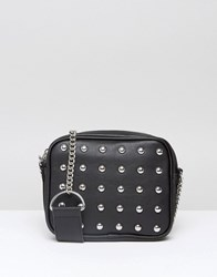 Monki Stud Detail Cross Body Bag Black