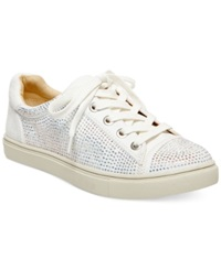 Blue By Betsey Johnson Fiona Rhinestone Sneakers Women's Shoes Ivory