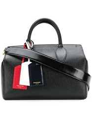 Thom Browne 3 Tag Double Handle Bag Black