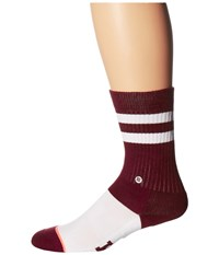 Stance Reveille Classic Crew Maroon Women's Crew Cut Socks Shoes Red