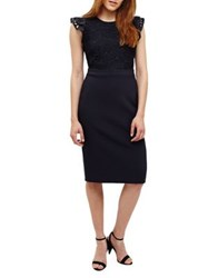 Phase Eight Peggy Lace Dress Navy