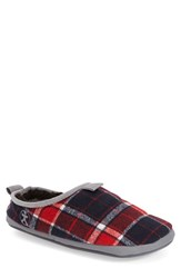 Men's Bedroom Athletics 'Bale' Slipper Red Navy