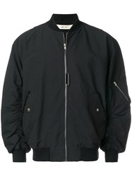 Damir Doma Gathered Sleeve Bomber Jacket Cotton Polyamide M Black
