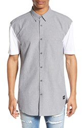 Men's Zanerobe 'Seven Ft' Trim Fit Longline Short Sleeve Woven Shirt