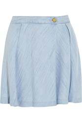 Michael Michael Kors Chambray Shorts Blue