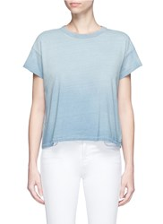 Ag Jeans 'Penrose' Cropped Ombre T Shirt Blue