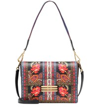 Etro Printed Leather Shoulder Bag Multicoloured