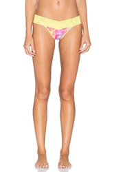 Only Hearts Club Stretch Lace Must Have Thong Yellow