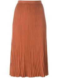 Christian Wijnants 'Kioni' Pleated Skirt Yellow And Orange