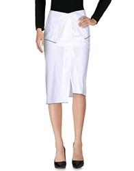 Haal Knee Length Skirts White