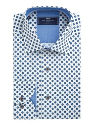 Paul Costelloe Marty Floral Ditsy Cotton Shirt Blue