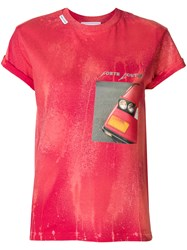 Forte Couture Car Bumper Print T Shirt Red
