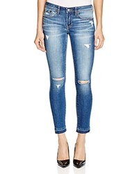 Jean Shop Patty Skinny Crop Destructed Jeans In Vintage