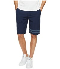 7 For All Mankind The Chino Shorts In Dark Chambray Stripe Dark Chambray Stripe Men's Shorts Blue